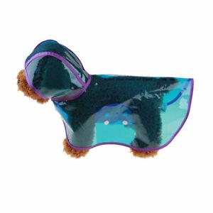 Dog Raincoat Waterproof Outdoor pet Doggie Rain Coat Rainwear Clothes S-XL-6XL