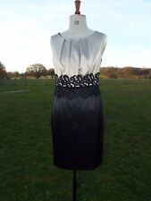 PETITE COLLECTION Black Gold Satin & Lace Occasion Dress Size 10 BNWT RRP £70.00