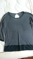 Blue and White Striped Oversize Top by Casamia Size Small