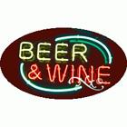 "NEW ""BEER & WINE"" 30x17 OVAL BORDER REAL NEON SIGN w/CUSTOM OPTION 14132"