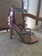 "Bebe Shiny Stiletto Sandals Size 6 ""berdine"""