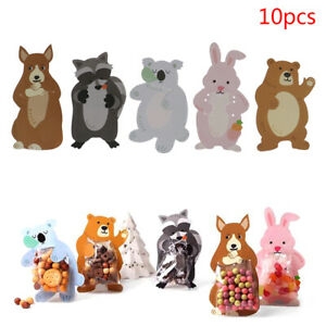 Animal 10pcs/lot Birthday Party Gift Bags Candy Bags Cookie Bags Bear Candy .BI