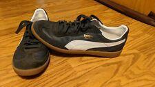 Men's Shoes PUMA SUPER LIGA OG RETRO Leather Sneakers NAVY / WHITE Size 13
