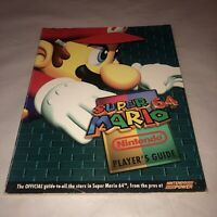 Official Nintendo Power Super Mario 64 Strategy Guide Book N64 Walkthrough