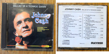CD compilation best of Johnny Cash, Ballad of a teenage queen, années 1980,rare