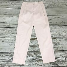 NEW SPORTMAX Light Pink Tapered Cotton Relaxed Trousers Summer SIZE UK 8 10421