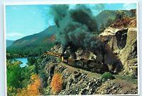 Colorado Rockies Durango Silverton Narrow Gauge Steam engine train Postcard A45