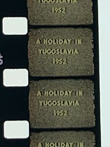 Amateur Kodascope Film Reel Yugoslavia, The Iron Curtain & Poland Dated 1952