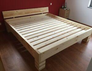 Bett / Massivholzbett / Doppelbett (Paul) alle Größen Farben 100%Handarbeit