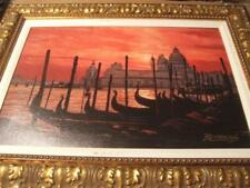 """""""Sunset on the Grand Canal#2 By Howard Behrens hand signed &embellished COA inc."""