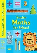 Sticker Maths for School by Ladybird Books - Key Stage 1+ Puzzles, Stickers