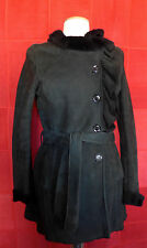 VALENTINO Manteau en peau d'agneau Coat lambskin Capotto authentic Taille 40 it.