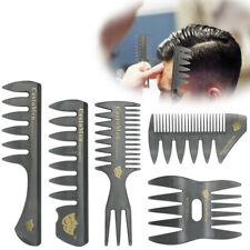 5PCS Set Hair Comb For Men Hair Styler Insert Hair Pick Comb Show Wide Tooth