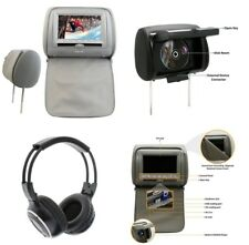 "Car Headrest 7"" LCD Monitor DVD Player/USB/IR 2IN1Remote SD Games FM+Headphone"
