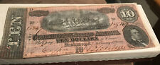 1864 Civil War Authentic Confederate States Of America Hand Signed $10 Bill