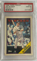 1988 Topps Traded Tiffany Jay Buhner PSA 10 Gem Mint Rookie RC M's HOF Low POP!