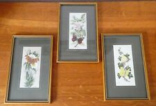 More details for 3x cash's woven silk pictures red admiral/brimstone/comma framed