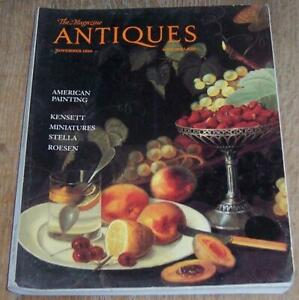 Antiques Magazine November 1990 American Painting Miniatures John Adams