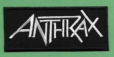 "New Anthrax 1 1/4 X 4 1/2 "" Inch Iron on Patch Free Shipping"