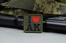 I Love AK, army morale military patch