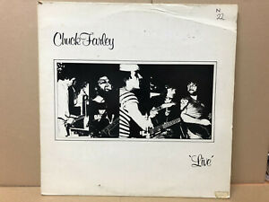 Chuck Farley – 'Live' - Self released BONA A33 - 1983 - VINYL VG LOTS OF MARKS