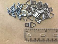 "Picture Frame Triangle Strap D-Ring Hangers (Small) 50/pk with #6 x 3/8"" Screws"