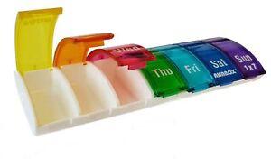 Anabox Weekly Pill Box / Tablet Organiser Rainbow Colour