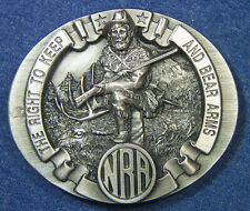 """Bear Arms"""" Belt Buckle - Bergamot G-251 Vintage 1995 Nra """"The Right To Keep And"""