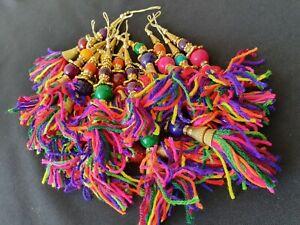 Banjara Latkan Tribal Tassel Saree Blouse Hand bag Sewing Craft 1 piece