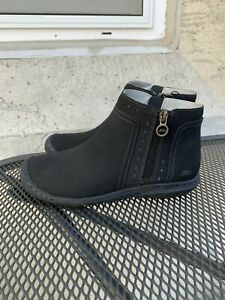 NEW Women's Juno JBU by Jambu Black Zip Up Bootie Fur Lined Ankle Boot Pick Size