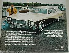 1968 BUICK stationwagon advertisement page, Buick Sportwagon station wagon