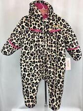 Juicy Couture Leopard Print Baby Infant Winter Coat Bunting Snowsuit Sz 6-9 M