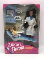 Vtg Talking Dentist Barbie & Baby 1997 Mattel NRFB New!! Loose Accessories