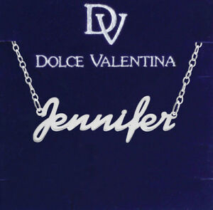 925 Sterling Silver JENNIFER Name Necklace Womens Pendant Gift Ready Stock