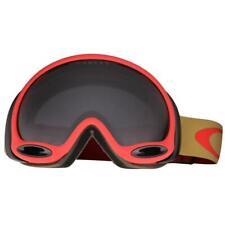 Oakley OO 7044-12 A Frame 2.0 Copper Red w/ Dark Grey Lens Snow Ski Goggles .