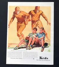 1941 Keds Advertisement Football Players Shoe of Champions Vtg Sneakers Print AD