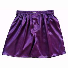 Mens Thai Silk Boxer Shorts 1, 3 or 5 Pairs Purple Underwear Pant M L XL 2XL Lot