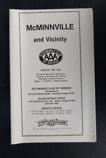 1982? McMinnville Aaa street map oil gas other maps in lotl dated Oregon