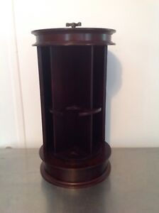 "Bombay Company Revolving WINE BOTTLE STORAGE Caddy Rack 20"" tall"