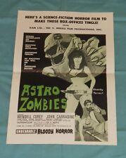 original ASTRO ZOMBIES PRESSBOOK Wendell Corey John Carradine Tura Satana