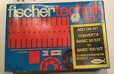 Vintage Fischertechnik 50/1. Art Nr 2 30140 5. Complete set. Excellent condition