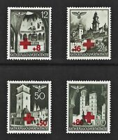 DR Nazi Reich Rare WW2 MNH Stamps Castles Tower Church GG Poland Occup Red Cross