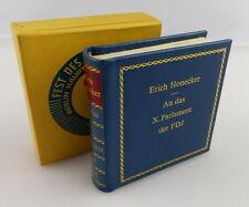 Mini libro: Erich Honecker-en el Parlamento X. la FDJ e061