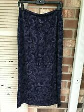 Petite Sophisticate Women's Skirt BLUE PRINT STRETCH Size L