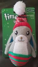 Time for Joy Christmas Holiday Hopper Rabbit Catnip Cat Toy