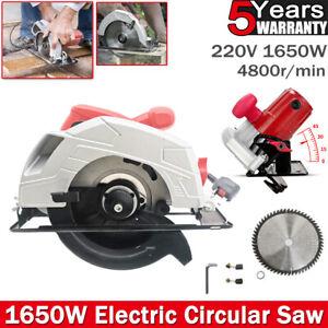 Electric Circular Saw 1650W Heavy Duty Wood Metal Cutting Power Tool 185mm Blade