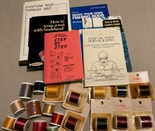 Lot of Rod Wrapping Building Books and Thread
