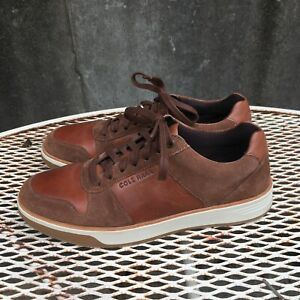 Mens 9 Shoes Cole Haan GRAND CROSSCOURT CRAFTED Leather Sneakers Habana/Lumber