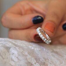 2.5Ct Princess-Cut D/VVS1 Diamond 14K White Gold Over Eternity Wedding Band Ring