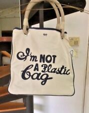 RARE  ANYA  HINDMARCH  I'M NOT A  PLASTIC TOTE  BAG US VERSION.